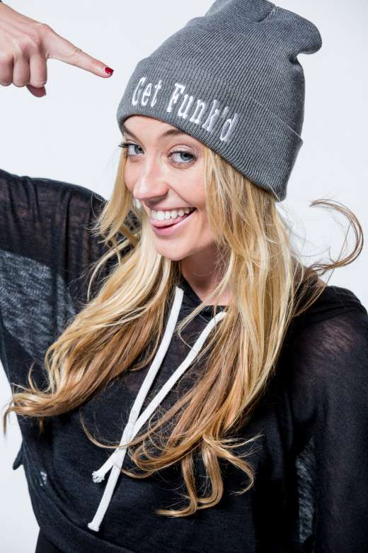 Get Funk'd Beanie in Black and Gray