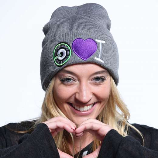I Love G3 Beanie in Black and Gray