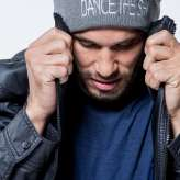 Dance the Ish Beanie in Black and Gray by All Season by GROOV3